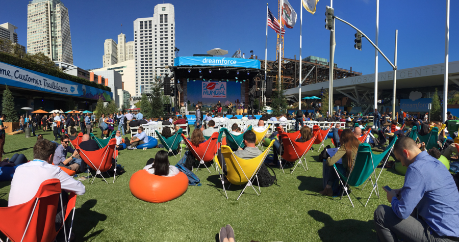 Dreamforce 2016 à San Francisco Outdoor avec Twelve Consulting